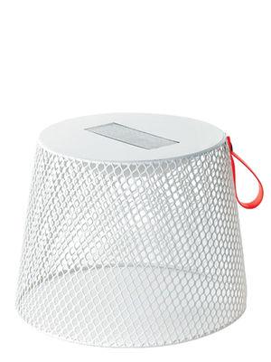 Arredamento - Tavolini  - Sgabello luminoso Ivy - Energia solare di Emu - Bianco - Acciaio