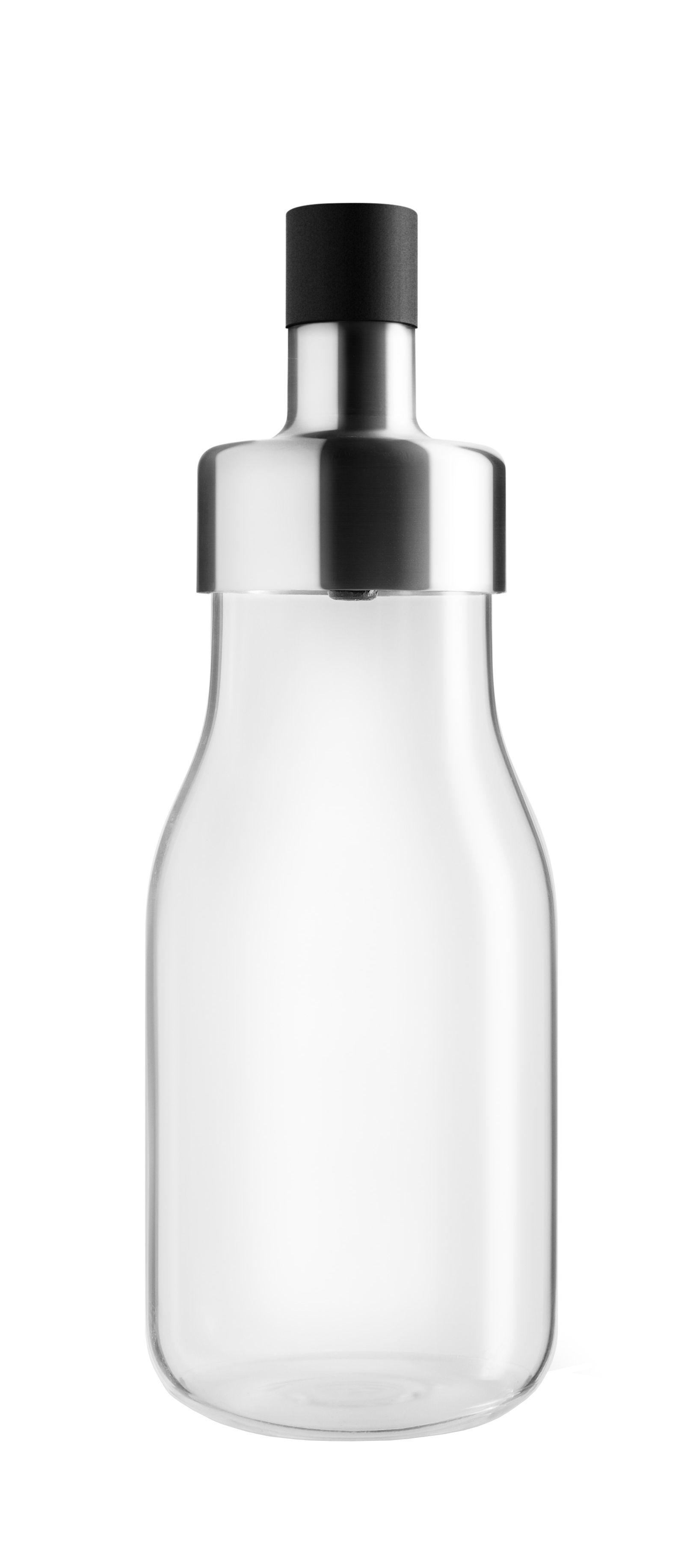 Arts de la table - Huile et vinaigre - Shaker à vinaigrette MyFlavour / Stoppe-goutte - Eva Solo - Transparent - Acier inoxydable, Silicone, Verre borosilicaté