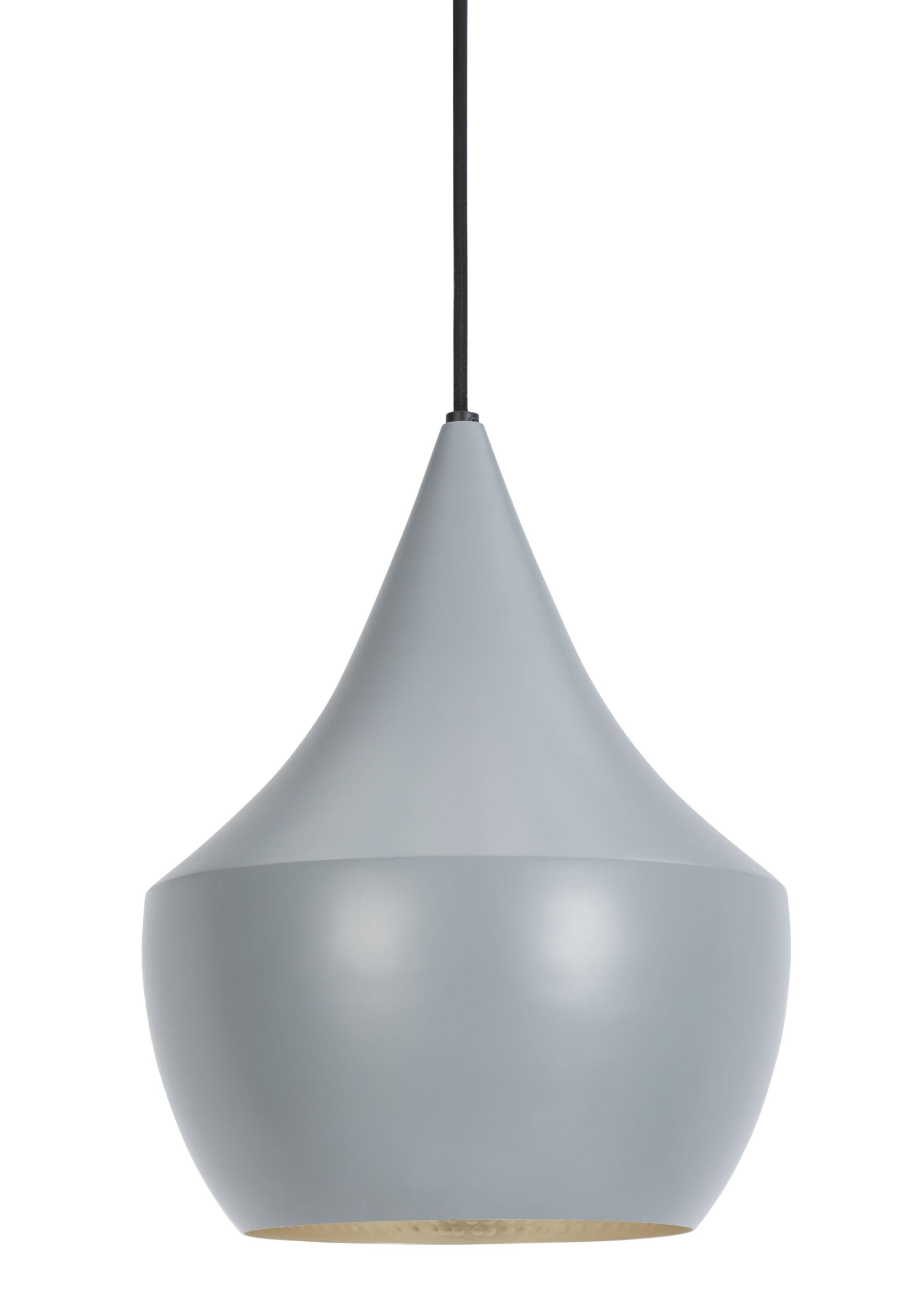 Illuminazione - Lampadari - Sospensione Beat Fat di Tom Dixon - Grigio / Interno argento - Ottone