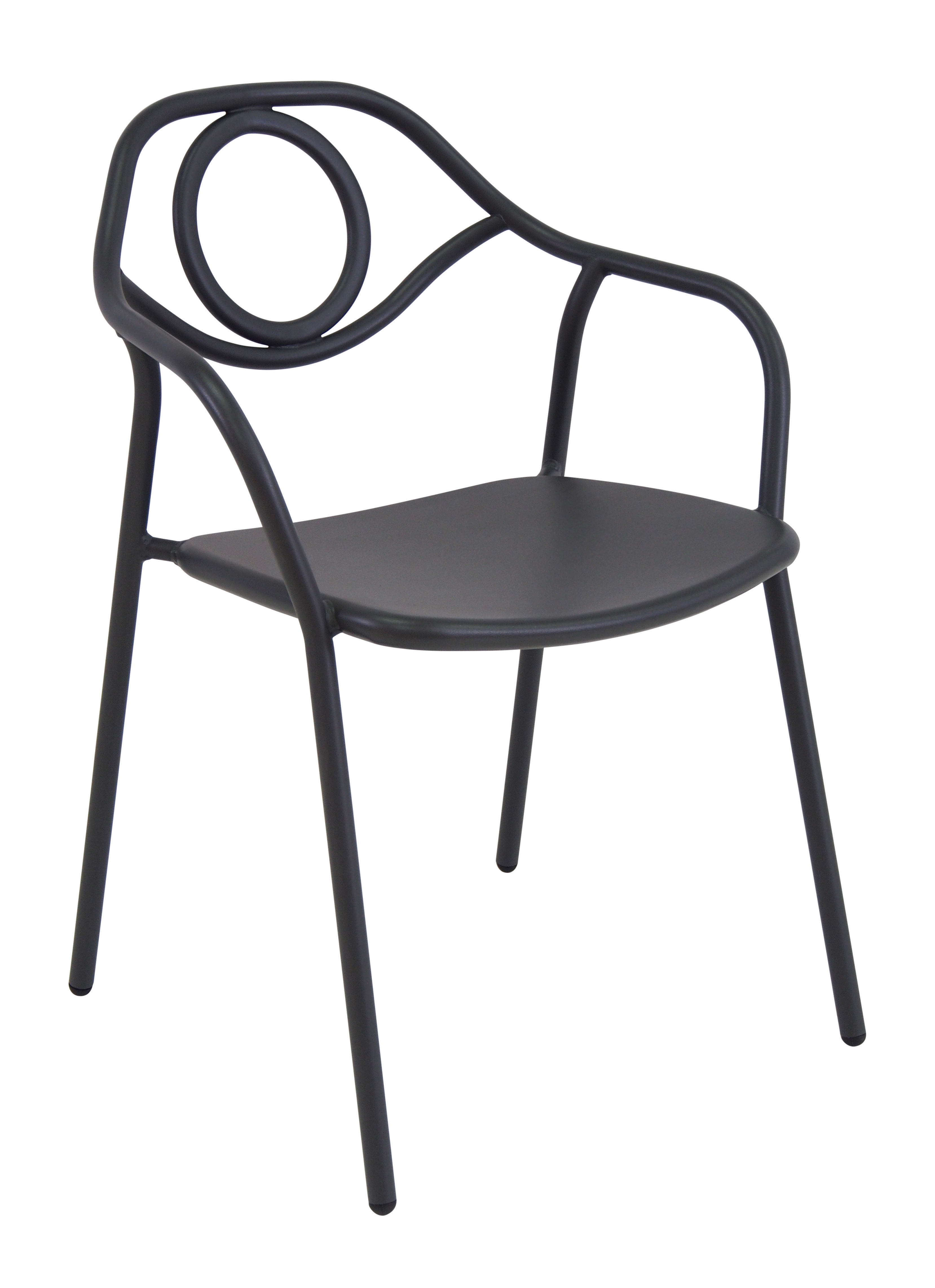 Furniture - Chairs - Zahir Stackable armchair - / Metal by Emu - Old iron - Varnished steel