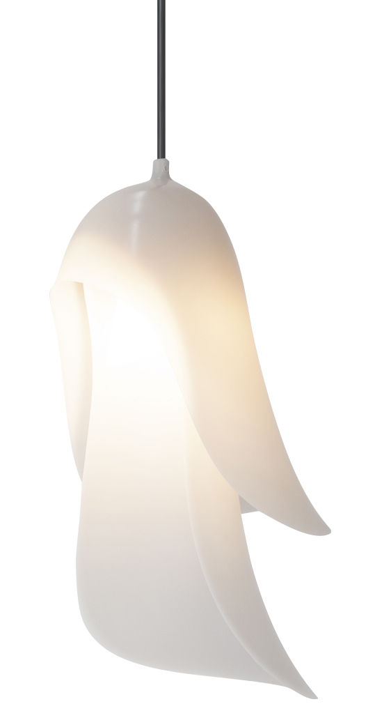 Luminaire - Suspensions - Suspension Cape - Moustache - Gris clair - Polycarbonate recyclé