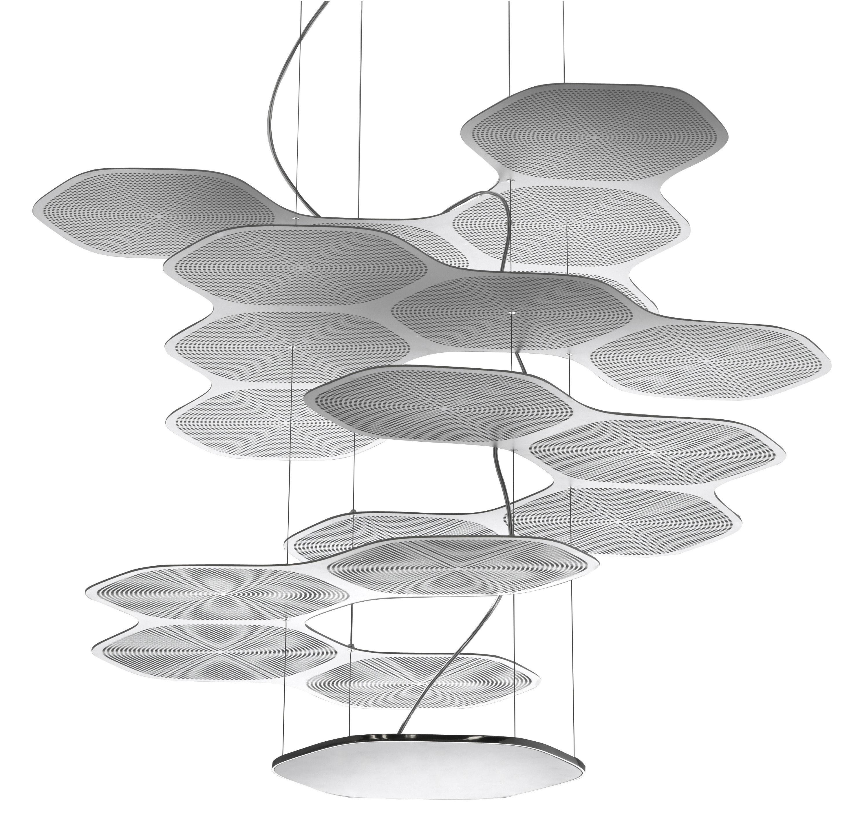 Luminaire - Suspensions - Suspension Space Cloud / LED - Artemide - Aluminium - Acier, Aluminium
