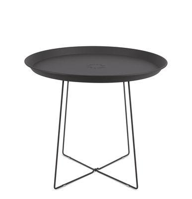Table basse Plat-o / Plateau amovible - Ø 56 x H 46 cm - Fatboy gris anthracite en métal