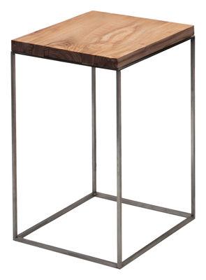 Table basse Slim Irony / 31 x 31 x H 46 cm - Zeus bois naturel en métal