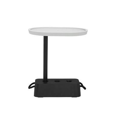 Table d'appoint Brick / 56 x 39 x H 63,5 cm - Plateau rotatif - Fatboy gris en matière plastique