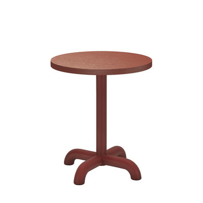 Table d'appoint Unify / Ø 40 cm - Chêne - Petite Friture rouge en bois