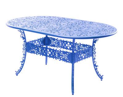 Table ovale Industry Garden L 152 cm Seletti bleu ciel en métal