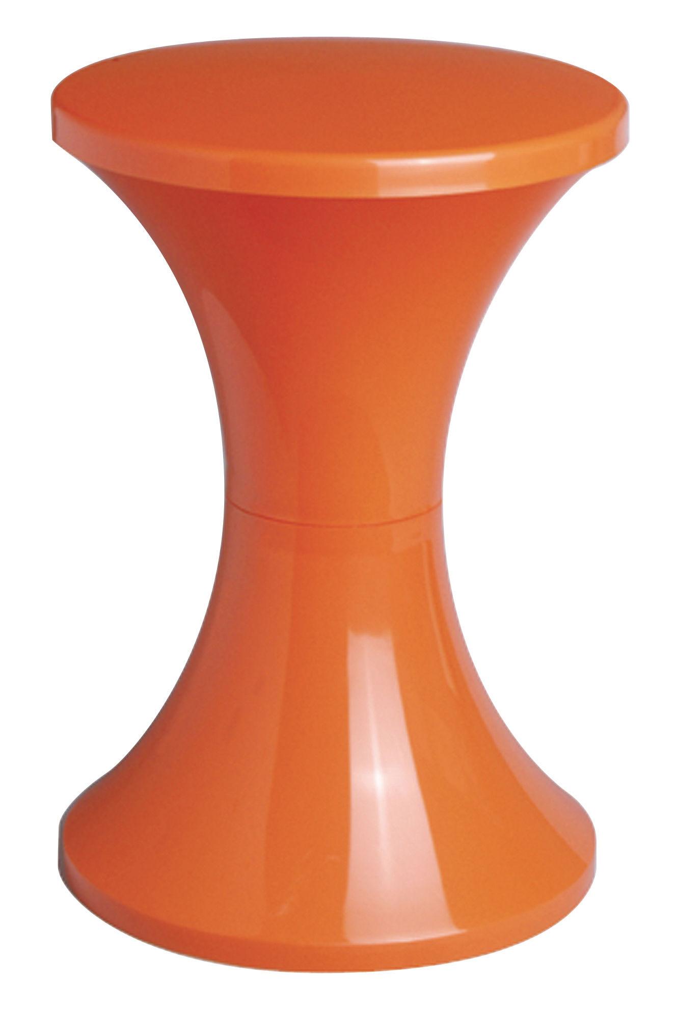 Mobilier - Mobilier Ados - Tabouret Tam Tam Pop / Plastique - Stamp Edition - Orange - Polypropylène