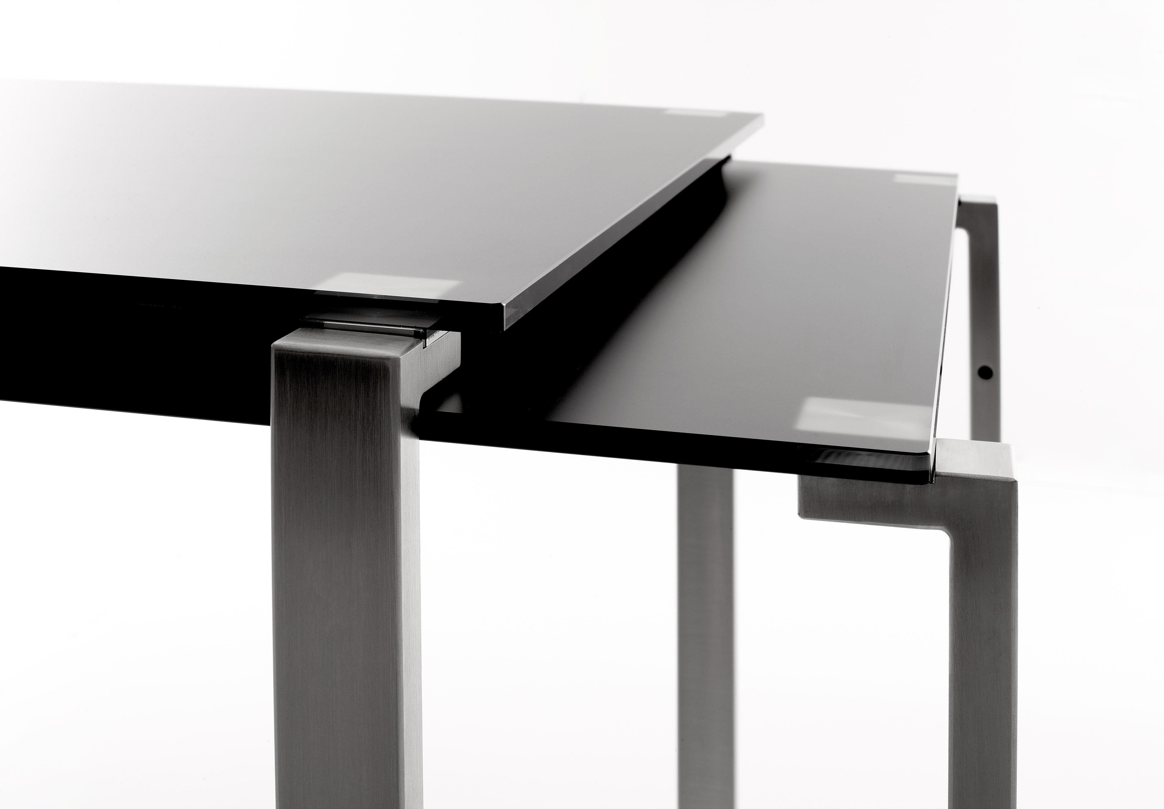 1 2 tavolo con prolunga set di 2 tavoli impilabili for Tavoli rettangolari di design