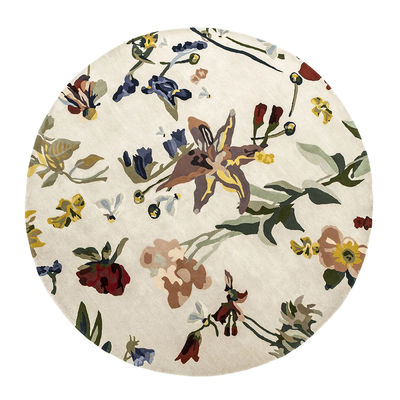 Dekoration - Teppiche - Flora - Promenade Teppich / By Santi Moix - Ø 250 cm / Wolle - Nanimarquina - Mehrfarbig - Laine vierge