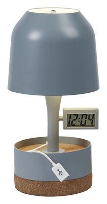 Dekoration - High Tech - Hodge-Podge Tischleuchte / mit integriertem USB-Port - H 30 cm - Forestier - Grau - lackiertes Metall
