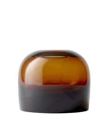 Interni - Vasi - Vaso Troll Medium - / Ø 14 x H 12 cm di Menu - Ambra - Vetro soffiato a bocca