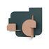 Urba 04 Wall coat rack - / 2 hooks by Presse citron