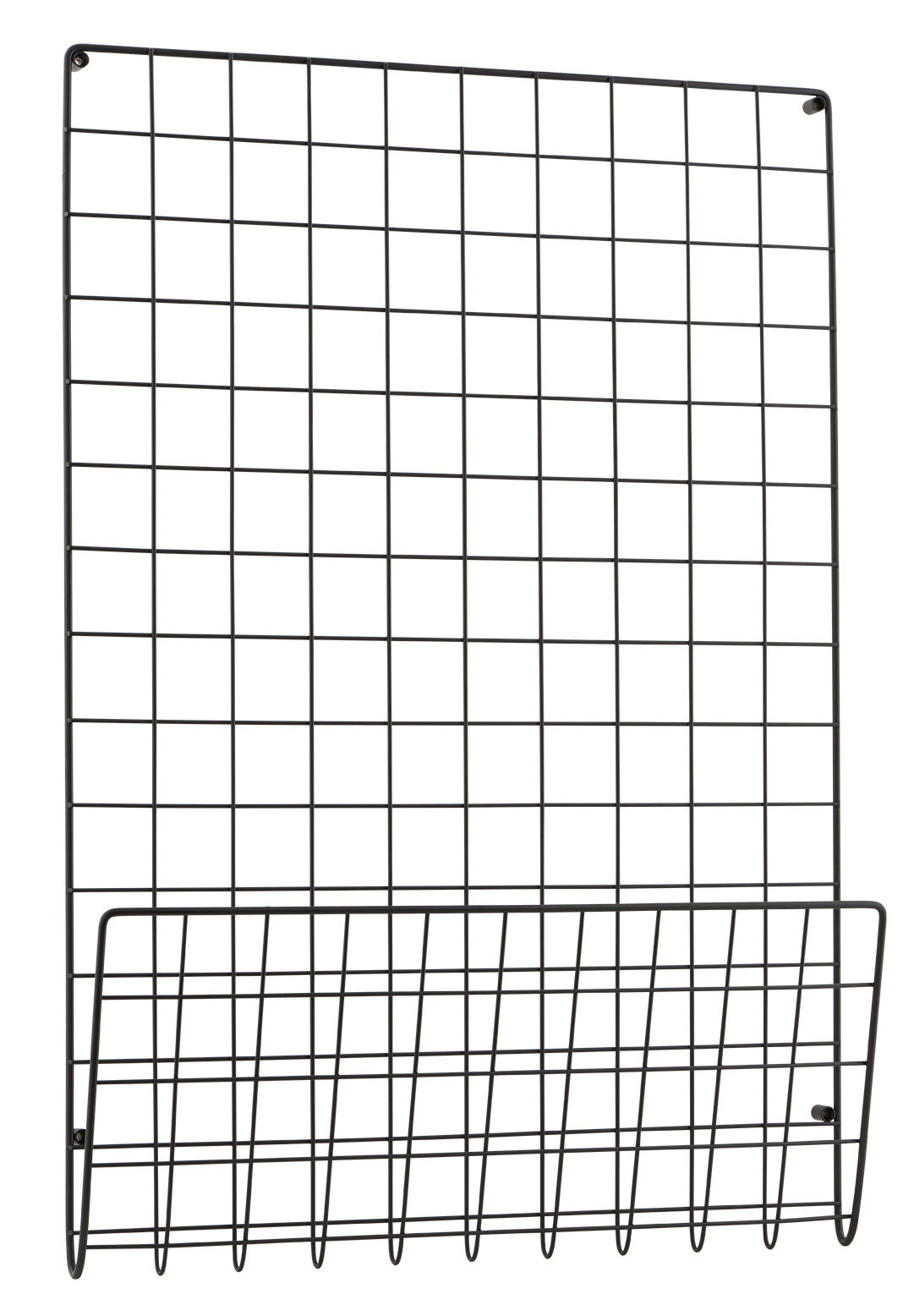 Decoration - Memo Boards & Calendars  - Mesh Wall storage - Magazine holder - 50 x 72 cm by House Doctor - Black - Steel