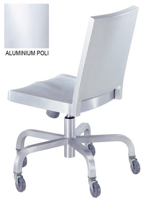 Furniture - Office Chairs - Hudson Indoor Wheelchair - Casters by Emeco - Polished aluminium - Polished aluminium