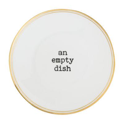 Assiette An empty dish / Ø 22 cm - Bitossi Home blanc,noir,or en céramique