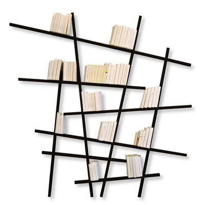 Mobilier - Etagères & bibliothèques - Bibliothèque Mikado Large / L 215 x H 220 cm - Compagnie - Noir - Hêtre laqué
