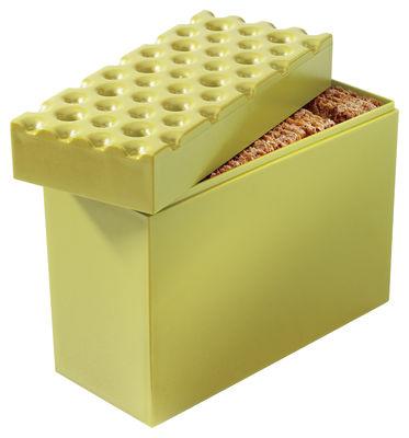 Boîte hermétique Brod pour biscuits - Koziol vert moutarde en matière plastique