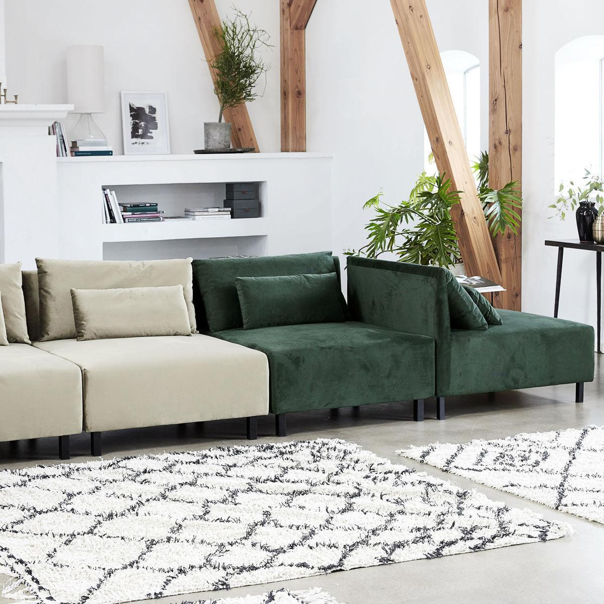 canap modulable box house doctor velours vert beluga. Black Bedroom Furniture Sets. Home Design Ideas