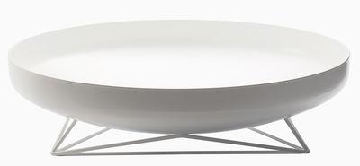 Arts de la table - Corbeilles, centres de table - Centre de table Steel Vessels Large / Vide-poche - Ø 52 cm - Th Manufacture - Blanc - Acier, Fer forgé