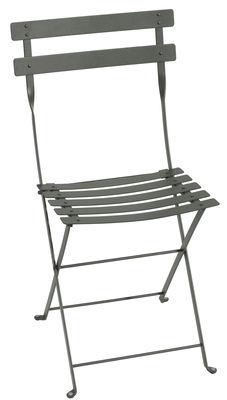 Chaise pliante Bistro / Métal - Fermob romarin en métal