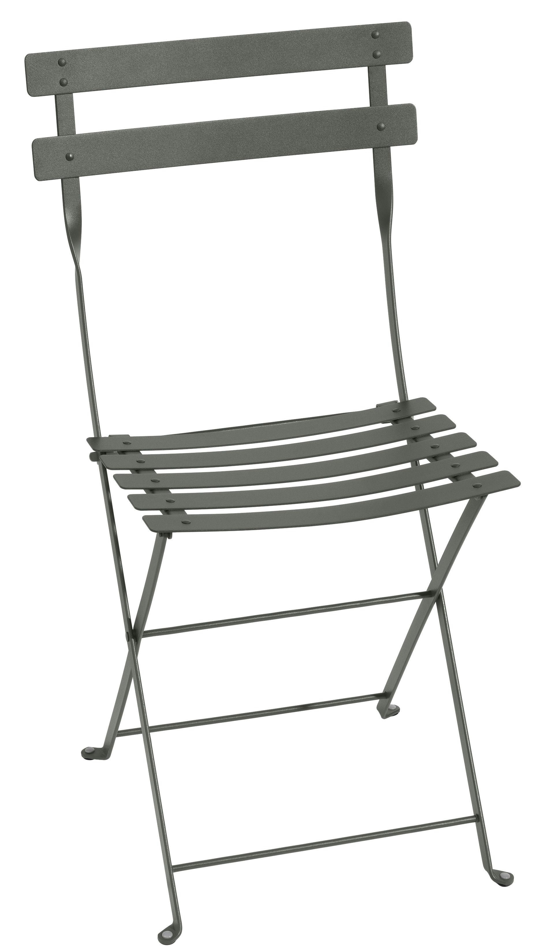 Mobilier - Chaises, fauteuils de salle à manger - Chaise pliante Bistro / Métal - Fermob - Romarin - Acier laqué
