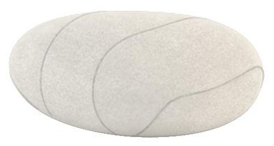 Coussin Xavier Livingstones / Laine - 50 x 40 cm - Smarin blanc en tissu