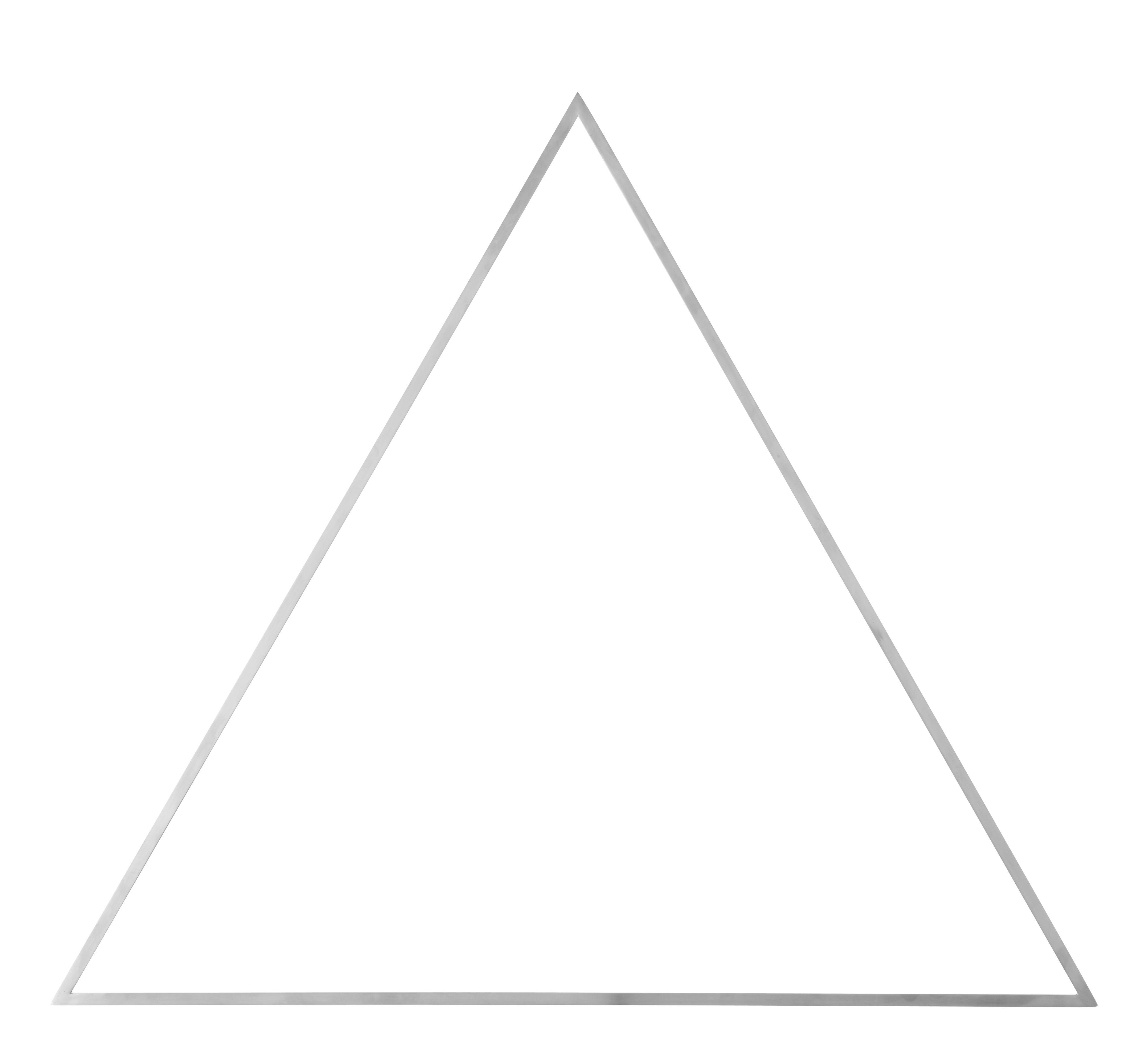 Dekoration - Dekorationsartikel - Still Triangle Dekoration / L 80 cm x H 69 cm - Metall - Menu - Stahl, gebürstet - gebürsteter rostfreier Stahl