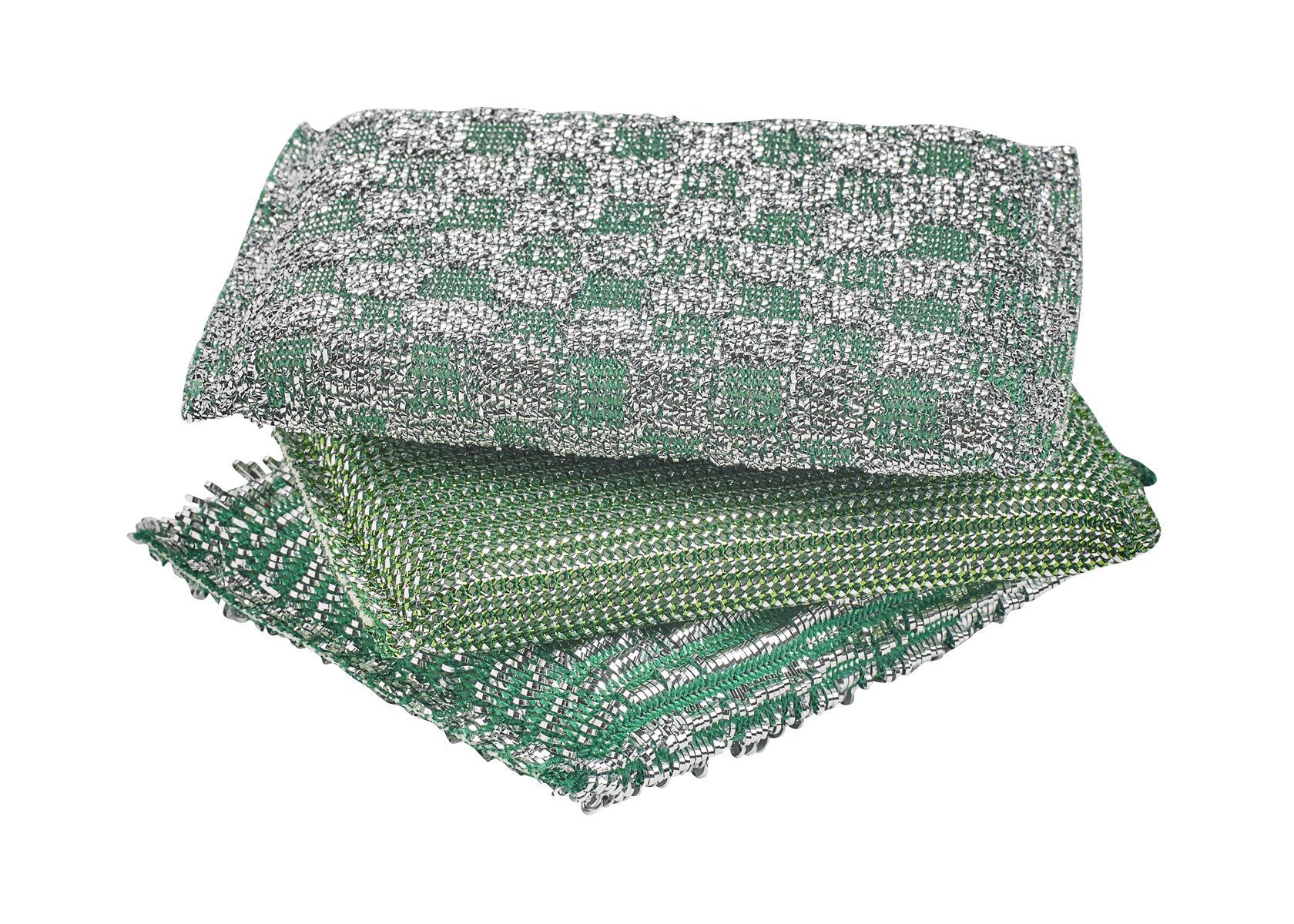 Accessoires - Accessoires salle de bains - Eponge à récurer Glitter / Set de 3 - Hay - Vert brillant - Mousse polyuréthane