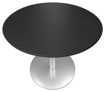 Möbel - Stehtische und Bars - Brio Höhenverstellbarer Tisch / Ø 60 cm - Lapalma - Eiche, schwarz, mit Maserung - Multiplis, Stahl
