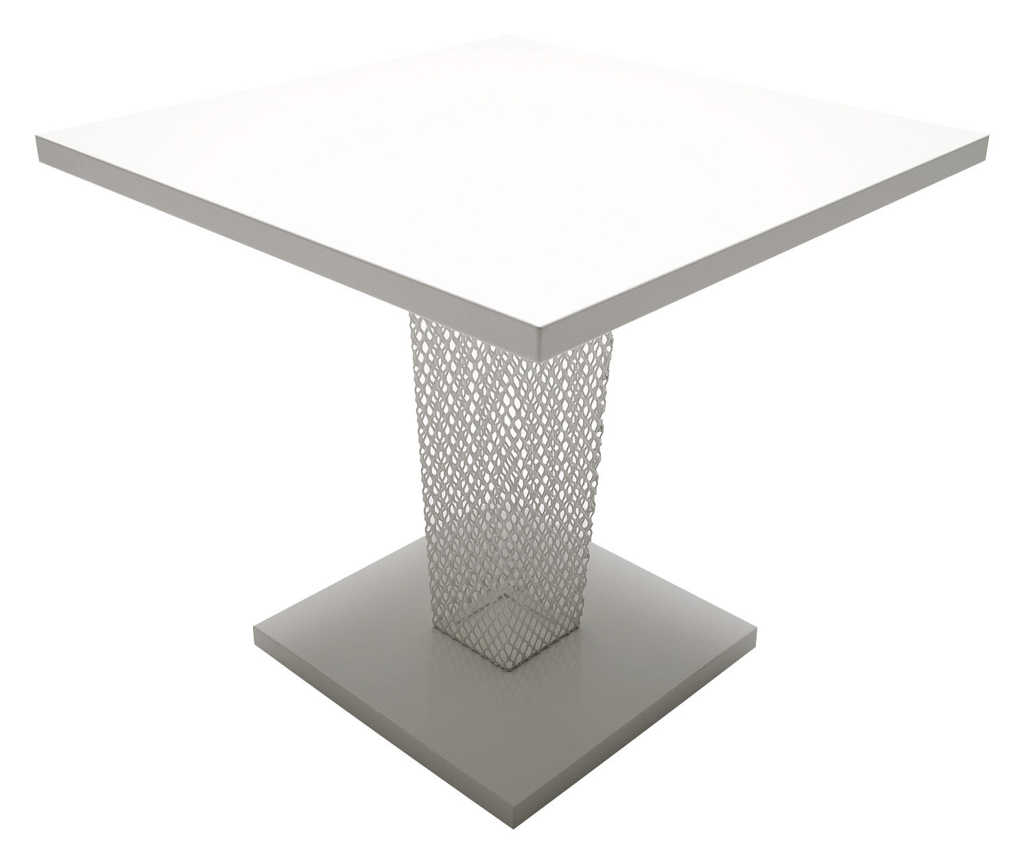 Outdoor - Garden Tables - Ivy Square table by Emu - White - Steel