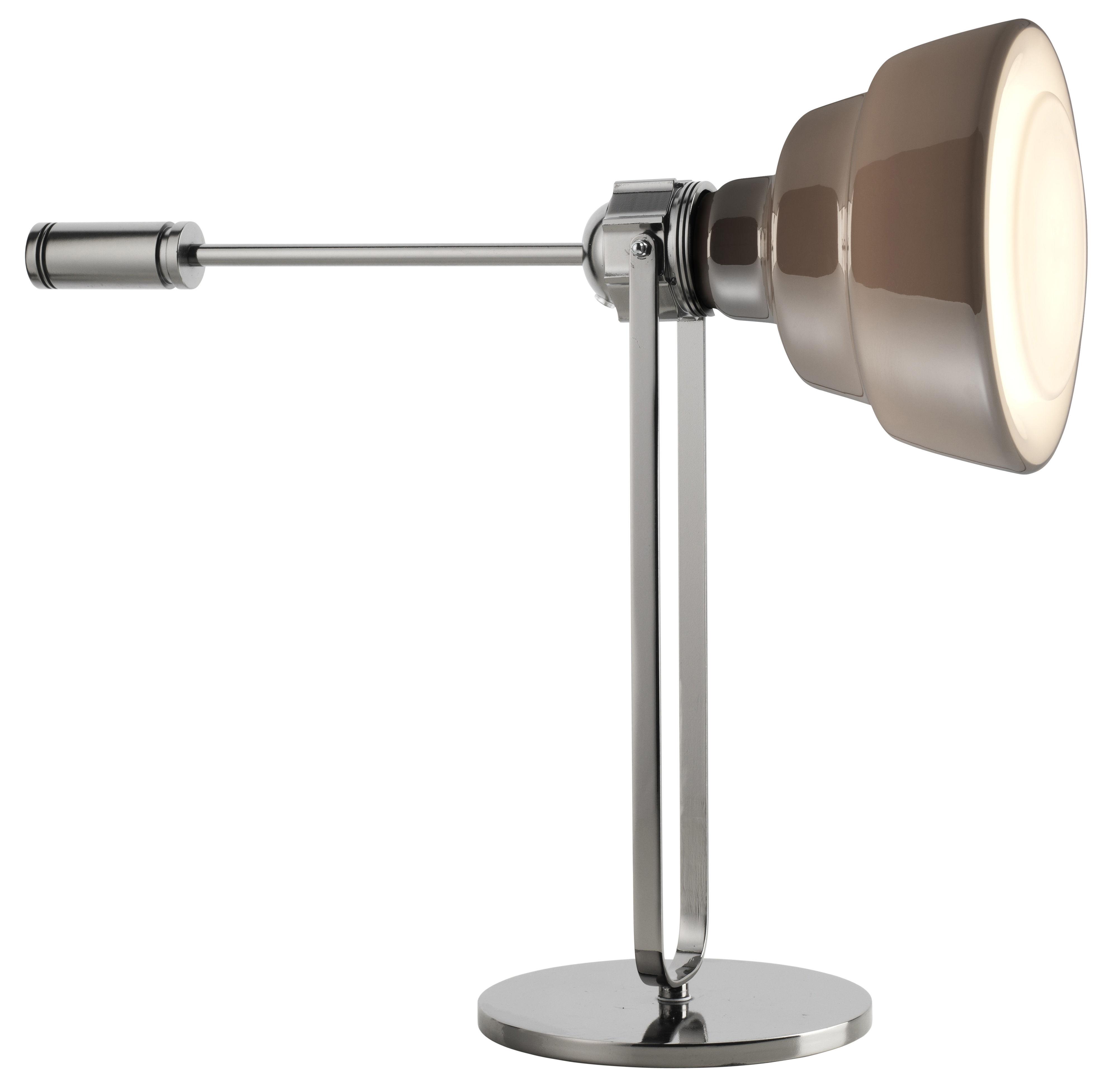 Illuminazione - Lampade da tavolo - Lampada da tavolo Glas di Diesel with Foscarini - Cromato/marrone - Metallo cromato, vetro soffiato