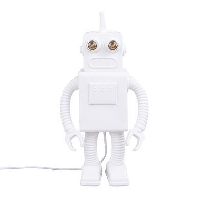 Luminaire - Lampes de table - Lampe de table Robot / Porcelaine - H 40 cm - Seletti - Blanc - Porcelaine