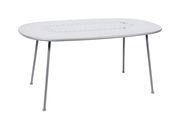 Table ovale Lorette 160 x 90 cm Métal perforé Fermob blanc coton en métal