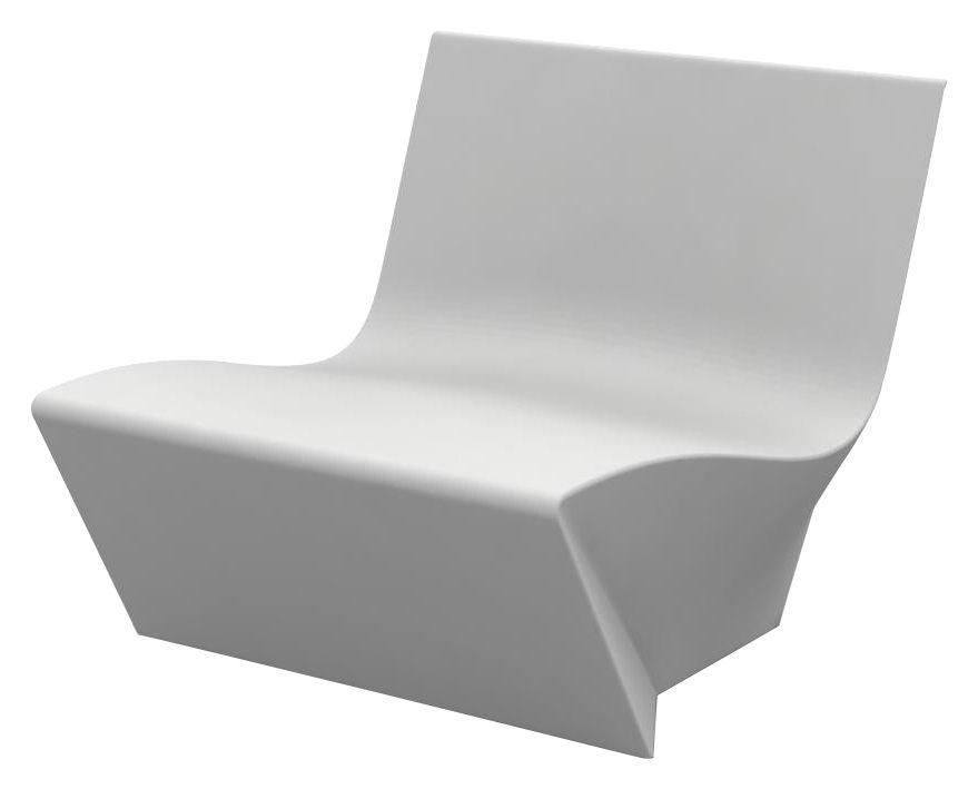 Outdoor furniture materials - Plastic garden furniture - Kami Ichi Low armchair - Armchair by Slide - White -
