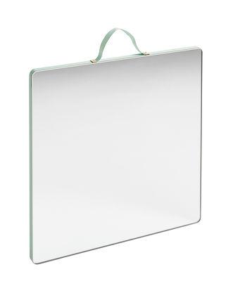 Miroir mural Ruban Large / Carré - 26 x 26 cm - Hay vert menthe en tissu