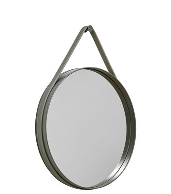 Miroir mural Strap / Ø 50 cm - Hay vert en métal/matière plastique