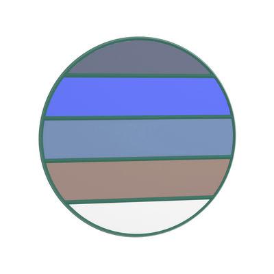 Déco - Miroirs - Miroir mural Vitrail / Ø 50 cm - Magis - Cadre vert / Multicolore - Caoutchouc, Verre