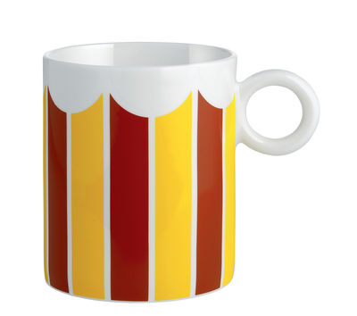 Mug Circus / Porcelaine anglaise - Alessi jaune,rouge en céramique