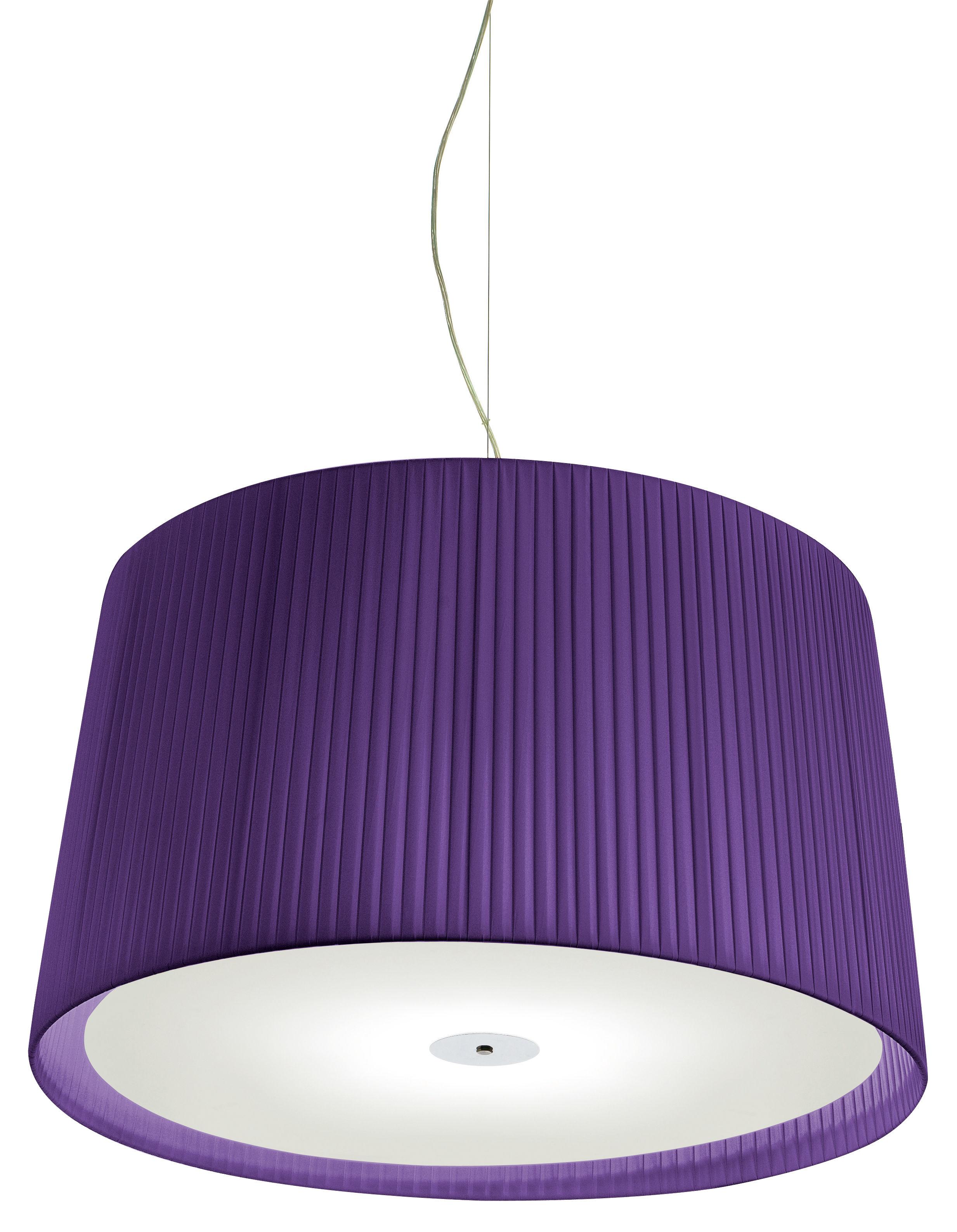 Lighting - Pendant Lighting - Milleluci Pendant - / Ø 80 cm by Modoluce - Purple - Cotton, Plexiglas