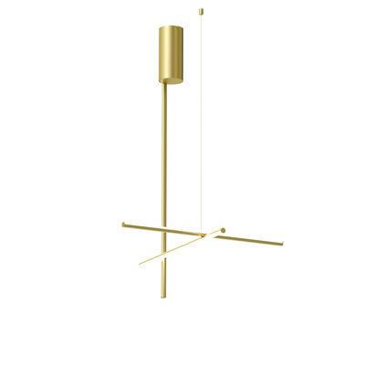 Luminaire - Plafonniers - Plafonnier Coordinates C1 LED / L 78 x H 123 cm - Flos - Champagne anodisé - Aluminium extrudé