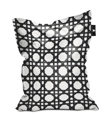 Furniture - Poufs & Floor Cushions - Cannage Pouf - / 140 x 180 cm by PÔDEVACHE - Black -  Micro-billes EPS, Polyester