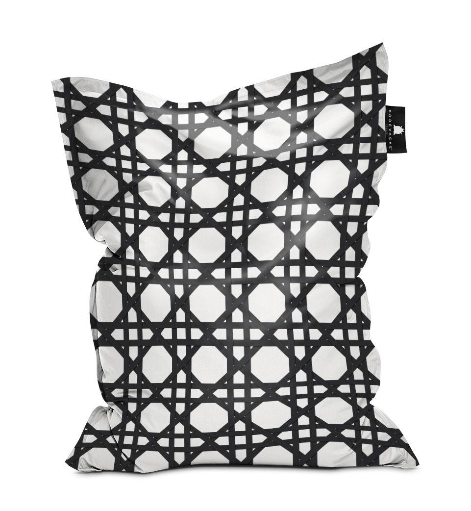 Mobilier - Poufs - Pouf Cannage / 140 x 180 cm - PÔDEVACHE - Noir -  Micro-billes EPS, Polyester