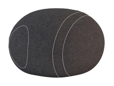 Mobilier - Mobilier Ados - Pouf Carla Livingstones / Laine - 70x60 cm - Smarin - Noir - 70 x 60 cm / H 40 cm - Laine, Mousse Bultex
