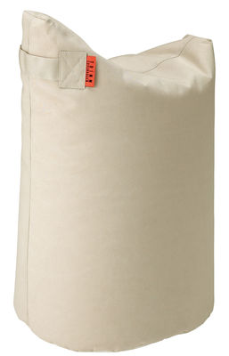Furniture - Poufs & Floor Cushions - Satellite Medium Pouf - H 68 cm by Trimm Copenhagen - Beige -  Microbilles EPS, Sunbrella canvas