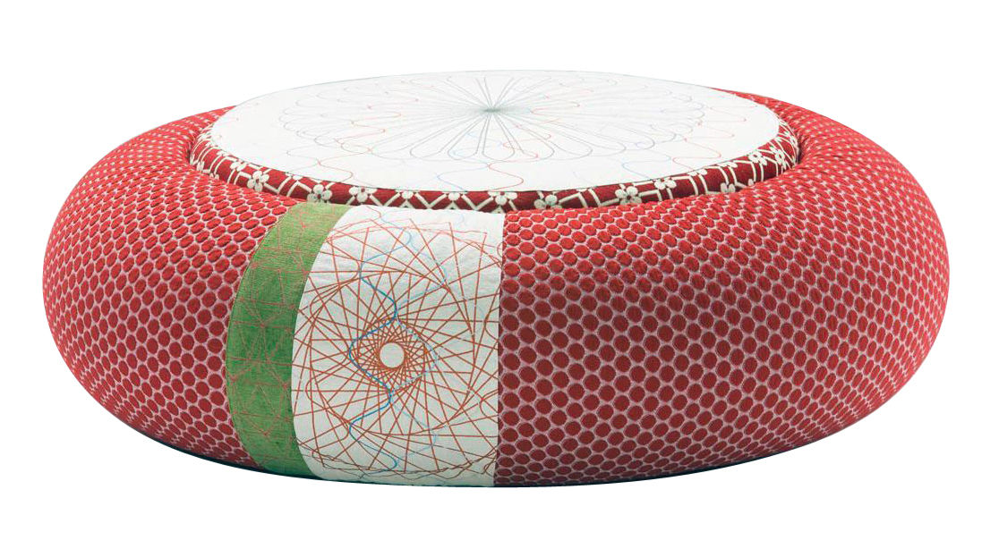 Arredamento - Pouf - Pouf Sushi - Donut - Ø 140 cm di Moroso - Ø 140 cm - Rosso - Tessuto