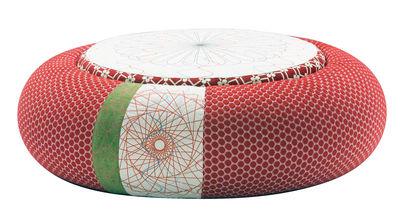 Mobilier - Poufs - Pouf Sushi - Donut Ø 140 cm - Moroso - Ø 140 cm - Rouge - Tissu