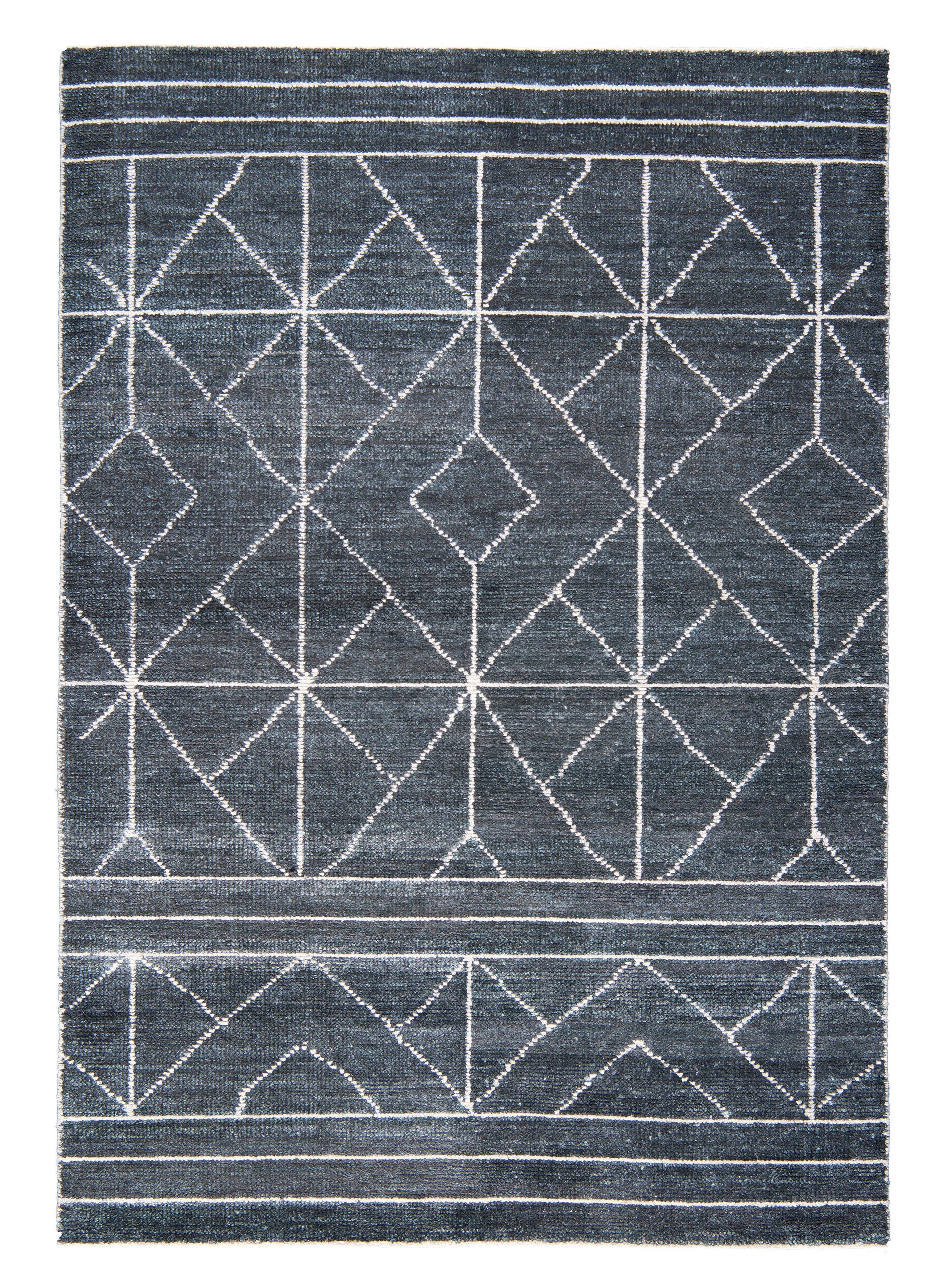 Decoration - Rugs - Casbah Rug - 170 x 240 cm by Toulemonde Bochart - Greu / White patterns - Cotton, Viscose