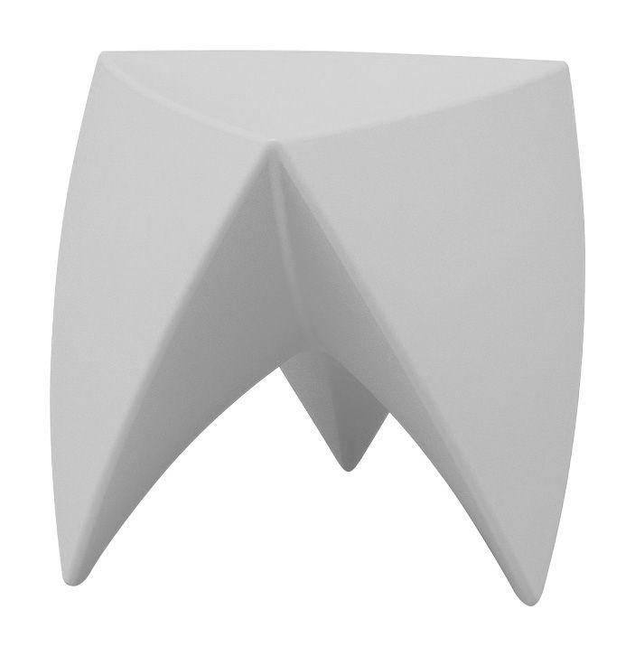 Arredamento - Tavolini  - Sgabello Mr. LEM di MyYour - Grigio chiaro - Polietilene rotostampato