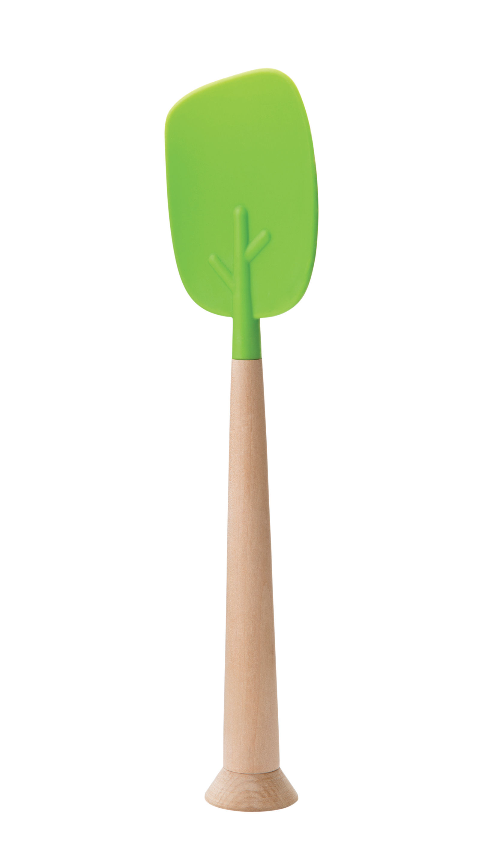 Kitchenware - Kitchen Equipment - Timber Spatula - / Silicon & wood by Pa Design - Green & wood - Silicone, Wood